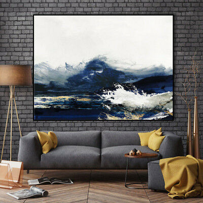 YA#899 Modern Scenery oil painting Hand-painted Seascape Home decor art Canvas