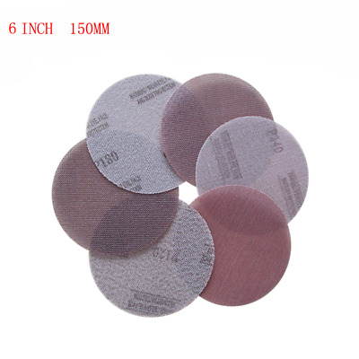 6''150MM Hook And Loop Mesh Dry Sanding Discs Paper 6 INCH 150MM 120 - 1000 Grit