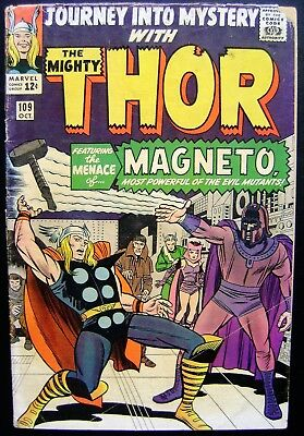 Journey Into Mystery - Thor - Silver Age - Magneto - Mid Grade!!  (Marvel 1964)
