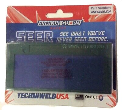 Techniweld Armour Guard Seer 2 x 4.25 Auto Darkening Fixed Shade 10 Welding Lens