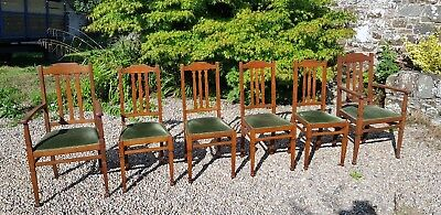 Arts and Crafts dining chairs (Shapland & Petter)