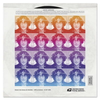 USPS New John Lennon (Music Icon) Pane of 16