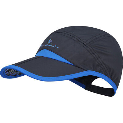 Ronhill split cap black electric blue running jogging outdoors