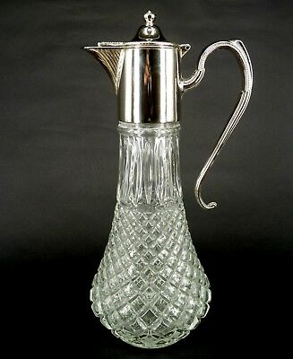 Silver Mounted Art Nouveau Style Claret Jug With Scroll Handle