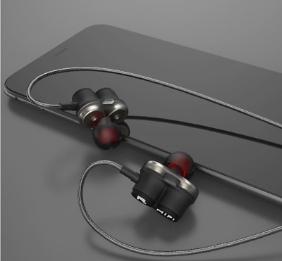 Hifi Earphones Earbuds Dual Dynamic Drivers Noise-isolating Sport Earbuds