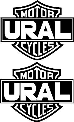 URAL Motorcycles 2 Aufkleber Bar & Shield Decal Biker Skull