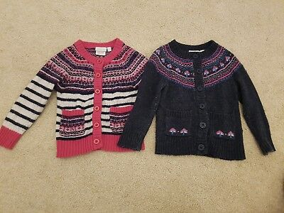 Girls Jojo Maman Bebe Fair Isle Cardigan Bundle 18-24 Months