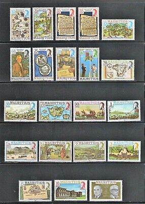 Mauritius -- MNH complete set from 1978-85 -- cv $27.80 -- date varieties