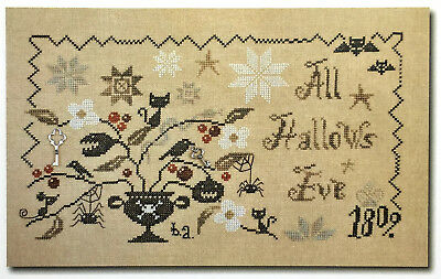 A Wicked Plant All Hallows Eve Halloween Barbara Ana Cross Stitch Pattern
