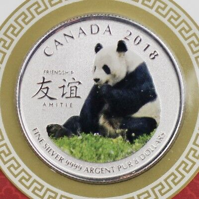 2018 Canada S$8 The Peaceful Panda Friendship NGC SP69 With Mint Packaging