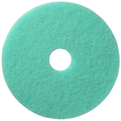 "FLOOR SCRUBBER GREEN POLISHING Buffing/Cleaning 17"" Pad 5 pads/case 401117"