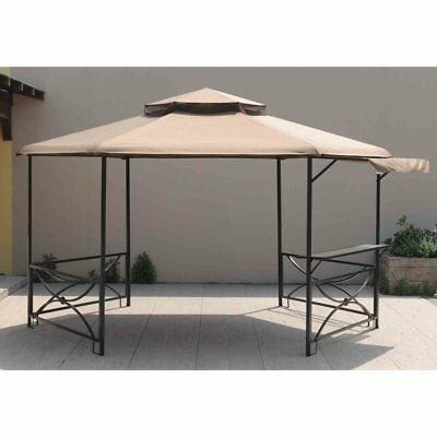 Sunjoy 11 x 13 ft. Replacement Canopy Cover for L-GZ501PST - Gardenia Gazebo