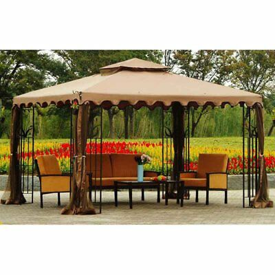 Sunjoy 10 x 12 ft. Replacement Canopy Cover for L-GZ043PST-3 - Gazebo