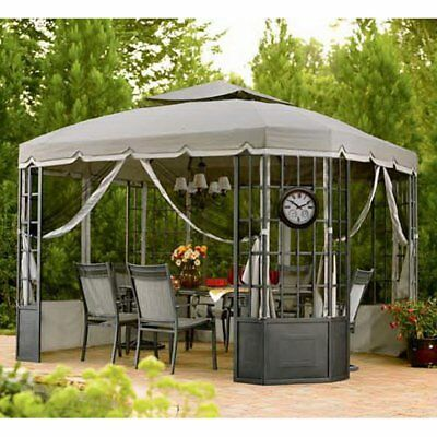 Sunjoy 10 x 12 ft. Replacement Canopy Cover for L-GZ120PST-2 - Bay Window Gazebo