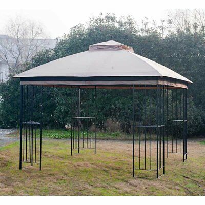 Sunjoy 10 x 10 ft. Replacement Canopy Cover for L-GZ038PST-F- Gt Easy Up Gazebo