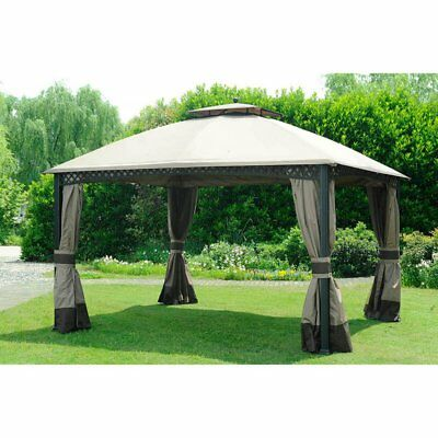 Sunjoy 13 x 10 ft. Replacement Canopy Cover for L-GZ717PST-C - Deluxe Windsor