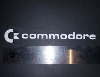 """Commodore Logo Old Style 6"""" Vinyl Sticker/Decal"""