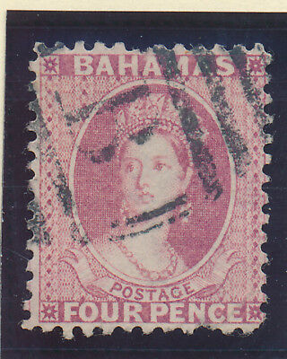 Bahamas Stamp Scott #25, Used, 4p 1882-98 QV