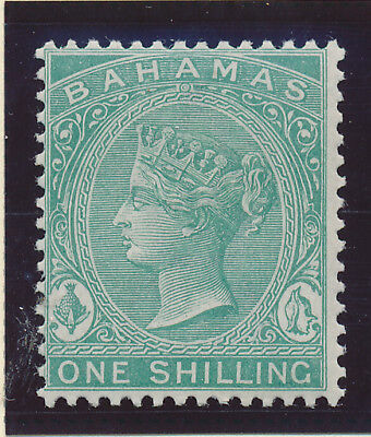 Bahamas Stamp Scott #23, Mint Hinged 1sh 1882-98 QV
