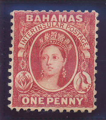 Bahamas Stamp Scott #24, Mint With Faults, 1p 1882-98 QV