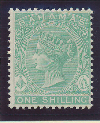 Bahamas Stamp Scott #19, Mint Never Hinged MNH, 1sh 1863-81 QV