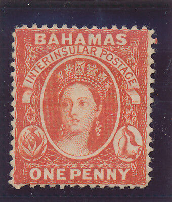 Bahamas Stamp Scott #16, Unused, No Gum, 1863-81 1p QV
