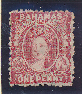 Bahamas Stamp Scott #11, Unused, No Gum, 1863-75 1p QV