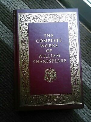 The Complete Works of William Shakespeare - leather-bound - ribbon marker