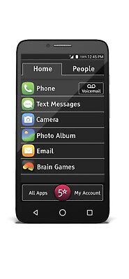 "New Jitterbug Smart Easy-to-Use 5.5"" Smartphone for Seniors by GreatCall - Black"