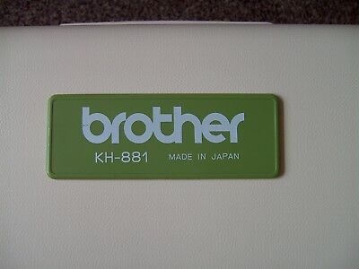 Brother KH-881 Punch Card Knitting machine with KR-850 Ribbing Attachment