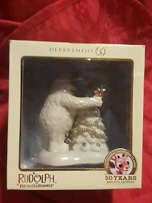 """BUMBLE"" 2014 DEPT 56 CELEBRATING RUDOLPH THE RED NOSE REINDEER 50th ANNIVERSARY"