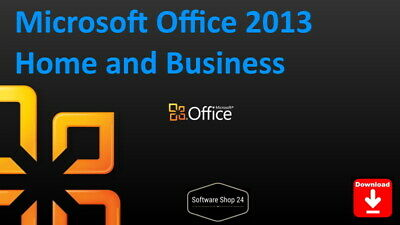 Microsoft Office 2013 Home and Business (Outlook, Word, Excel,) Vollversion 1PC