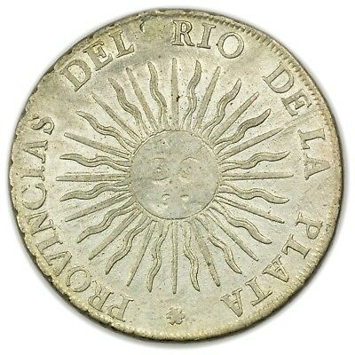Argentina KM#14 1815 8 Reales, Large, Rare, Early Coin [3882.08]