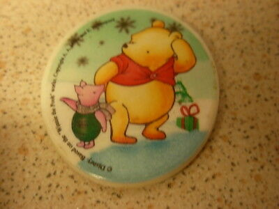 Winnie the Pooh and Piglet fridge magnet. Oval shape. Official item. Pooh Bear