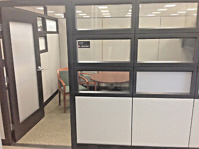 Haworth Glass Executive 9X12 Office/modular Offices W/ Doors Cubicle Desk (30)