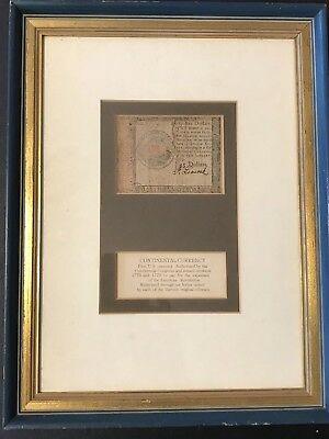 1779 Antique $45 Continental Currency 13th Colony~Guarantee Authenticity Framed