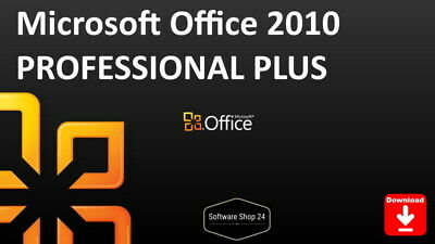 Microsoft Office 2010 Professional PLUS Vollversion Product Key Download ESD 1PC