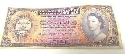 1960 The Government of British Honduras Two 2 DOLLARS 1st October 1960 Belize