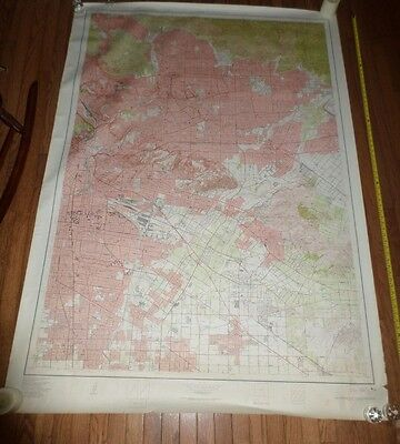 Fantastic, very large colored map of Los Angeles (1953) Scarce