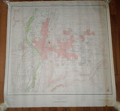 Fantastic, very large colored map of Albequerque (1954) Scarce