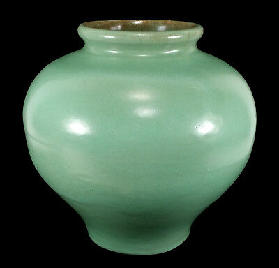 Vintage Catalina Island Art Pottery Olla Vase Decanso Green Early California