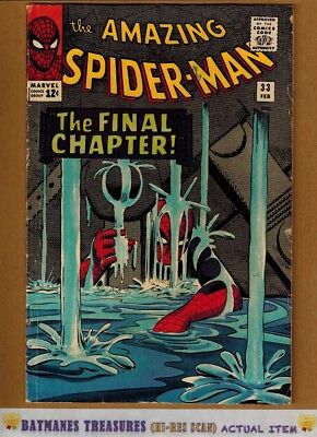 Amazing Spider-Man #33 (5.5) Fine- Iconic Steve Ditko Cover 1966 By Stan Lee