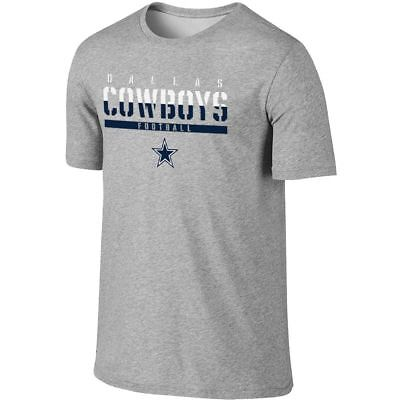 Dallas Cowboys T-Shirt Men's NFL Ruthless Tee Grey DCM