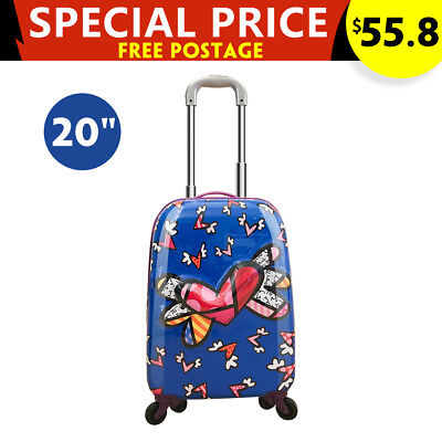 "20"" Kids Luggage 3D Flying Heart Design Children Travel Suitcase Trolley Case"