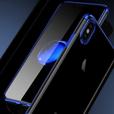 For iPhone XS Max XR 7 8 Shockproof Plating Clear Slim Hybrid Bumper Case Cover