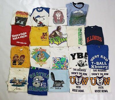 Vintage T Shirt Lot, 19 Vintage Youth T Shirts