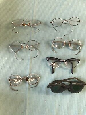 Lot of 7 Vintage / Antique GF Gold Filled Eye Glasses Fix & Repair Condition
