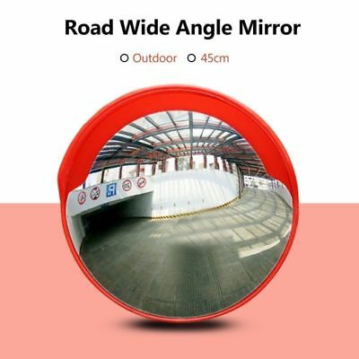 NEW 45cm Outdoor Road Traffic Convex Mirror Wide Angle Driveway Security Mirror