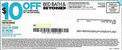Bed Bath Beyond Coupon 10