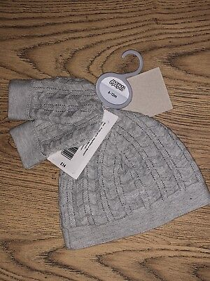 Bnwt Mamas And Papas 6-12 Months Hat And Mitt Set Bnwt
